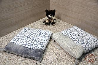 Подушки для стільців із зав'язками Камінчики на сірому