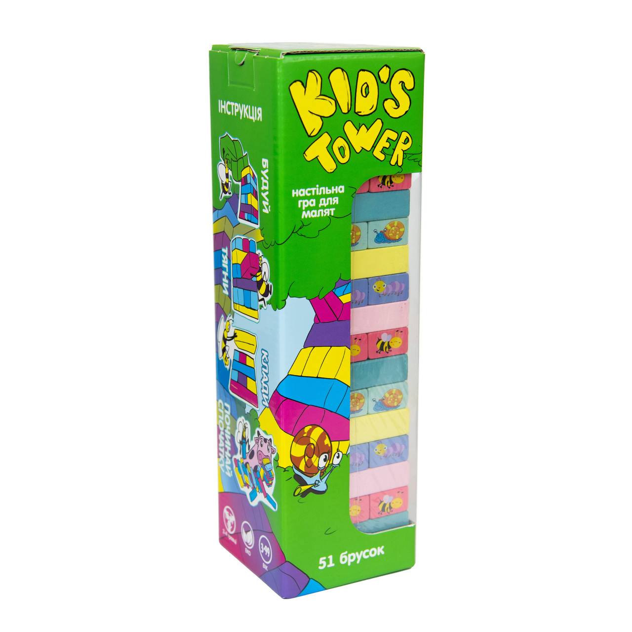 Kid's Tower настільна гра джанга бруска 54