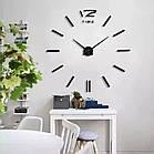 ОПТ Часы настенные 3D Time наклейки с палочками пластик черные, фото 2