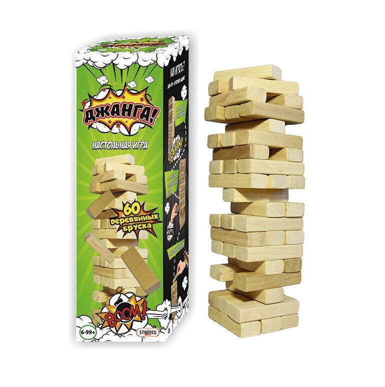 Настільна гра джанга 60 брусків