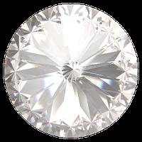 Пришивные риволи в цапах Preciosa (Чехия) 12 мм Crystal/серебро