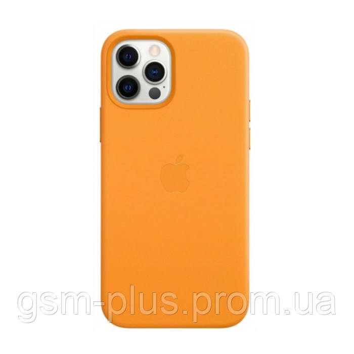 Чохол (Leather Case) для iPhone 12 Pro Max with magsafe California Poppy