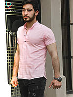 Бавовняна сорочка кольору пудра S, L