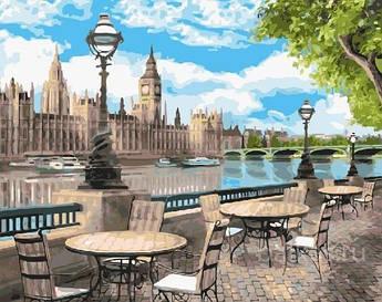Картина малювання за номерами GX25070 Набережна Лондона 40х50см набір для розпису по цифрам