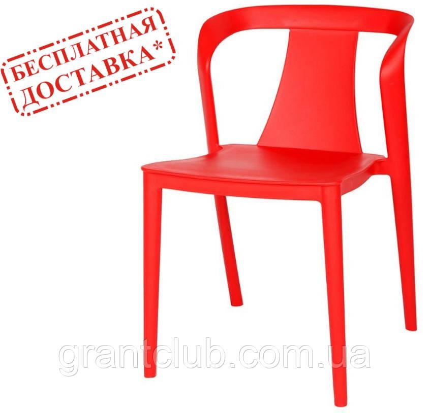 Стілець пластиковий IVA червоний (безкоштовна доставка)