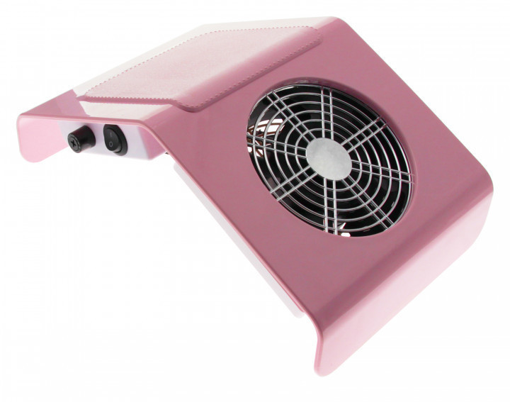 Настольная вытяжка для маникюра Nail Dust Collector Vacuum Cleaner Professional Pink