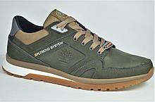 Мужские кожаные кроссовки цвета хаки Splinter 0220