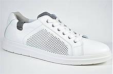 Мужские комфортные спортивные туфли великаны белые Maxus Рой