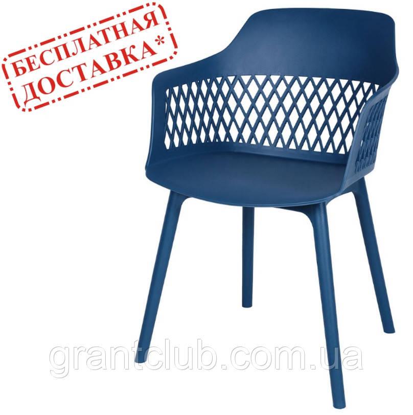 Стул LAVANDA синий полипропилен (бесплатная доставка)