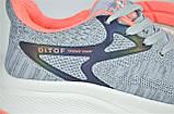 Жіночі кросівки сітка сірі з рожевим Ditof 5023 - 2, фото 5
