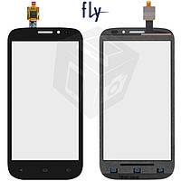 Touchscreen (сенсорный экран) для Fly IQ4404, черный, оригинал