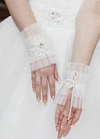 Свадебные коротенькие перчатки (П-к-72)