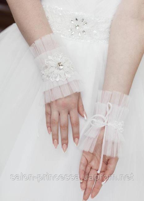 """Свадебные коротенькие перчатки (П-к-72) - Свадебный салон """"Принцесса"""" Чернигов в Чернигове"""