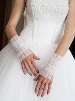 Свадебные коротенькие перчатки (П-к-75)
