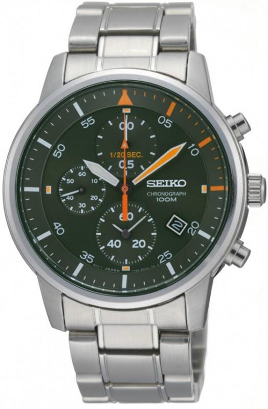 Часы Seiko Chronograph SNDE05P1 кварц. браслет