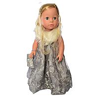 Детская интерактивная кукла M 5413-16-1 обучает странам и цифрам (Блондинка)