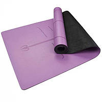 Каучуковый коврик для йоги и фитнеса спортивный каремат для тренировок и для занятий спортом с полиуританового