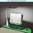 Парта детская регулируемая с LED лампой и подставкой БЕЖЕВО-САЛАТОВАЯ арт. 4428(W)-5, фото 10