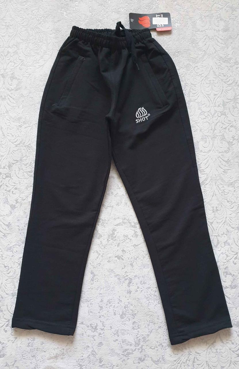 Спортивные штаны зауженные книзу на мальчиков 116,122,128,134,140,152,158,164,170 роста Чёрные