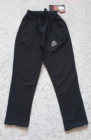 Спортивные штаны зауженные книзу на мальчиков 116,122,128,134,140,152,158,164,170 роста Чёрные, фото 2