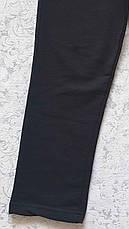 Спортивные штаны зауженные книзу на мальчиков 116,122,128,134,140,152,158,164,170 роста Чёрные, фото 3