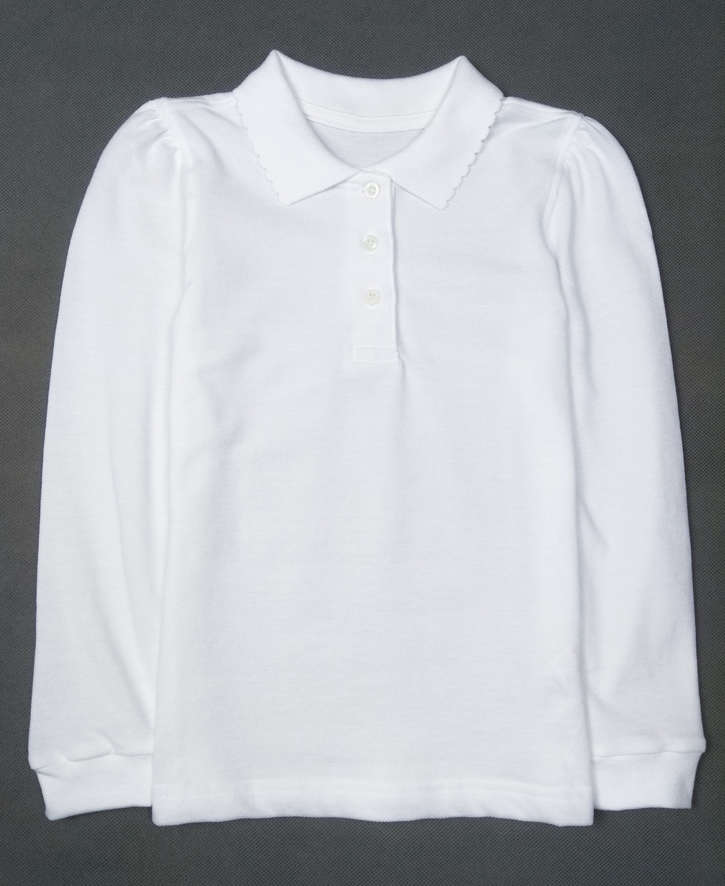 Футболка поло белая George для девочки Regular Fit, 12-13л (152-158см)