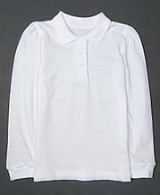 Футболка поло белая George для девочки RegularFit, 12-13л (152-158см)