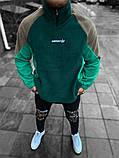 Чоловіча кофта Adidas зелена, фото 3