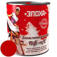 Антикоррозионная краска красная Эмаль ПФ-115к, 0.9 кг