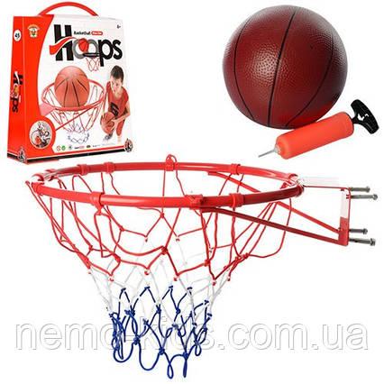 Баскетбольное кольцо, баскетбольный мяч, баскетбол, насос.