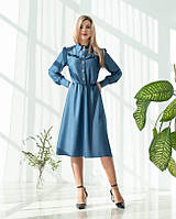 """Красивое платье """"350 """", джинсовое. Размеры 44, 46, 48, 50, 52."""