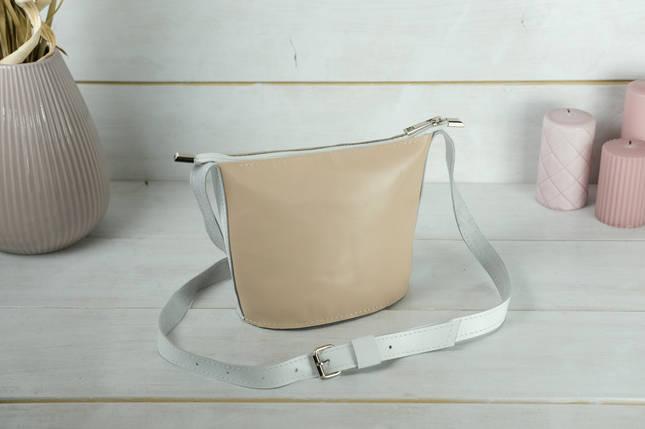 """Сумка жіноча. Шкіряна сумочка """"Елліс"""", шкіра Наппа, колір Бежевий, фото 2"""