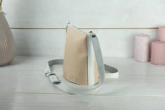 """Сумка жіноча. Шкіряна сумочка """"Елліс"""", шкіра Наппа, колір Бежевий, фото 3"""