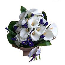 Букет квітів кали та іриси 21шт Харків доставка магазин