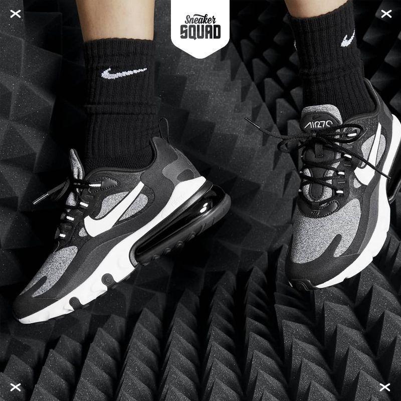 Кросівки чоловічі Nіke Air Max 270 React в стилі найк аір макс сірі (Репліка ААА+)