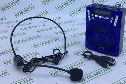 Колонка USB YF-8888 +мікрофон наголовний петелька (синій)