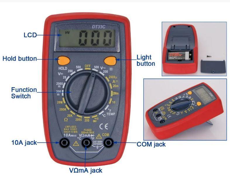 Многофункциональный Мультиметр Digital DT33C