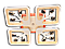 Люстра потолочная S8157/4BK LED 3color dimmer (Черный) 85W, фото 4