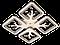 Люстра потолочная S8157/4GR LED 3color dimmer (Серый) 85W, фото 4