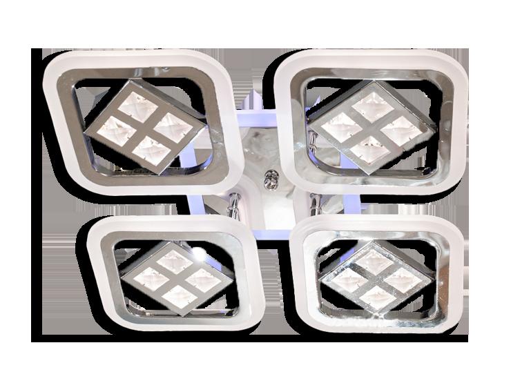 Люстра потолочная AS8190/4BK LED 3color dimmer (Черный) 95W