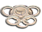 Світлодіодна люстра A3003/3+3WH LED 3color dimmer (Білий) 65W, фото 2