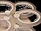 Світлодіодна люстра A3003/3+3BK LED 3color dimmer (Чорний) 65W, фото 6