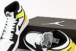 Кроссовки женские Nike Air Jordan Retro в стиле найк джордан ЖЕЛТЫЕ (Реплика ААА+), фото 5