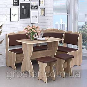Кухонный уголок Комфорт со столом и двумя табуретами