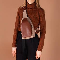Женский кожаный небольшой рюкзак . Цвет любой