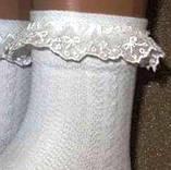 Шкарпетки ажурні білого кольору Bross з рюшем, фото 2