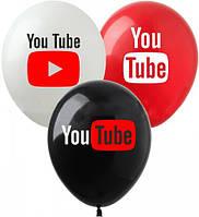 """Латексные воздушные шары Show YouTube 12"""" (30 см) 10 шт"""