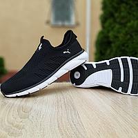 Літні чорні кросівки Puma, текстиль сітка, фото 1
