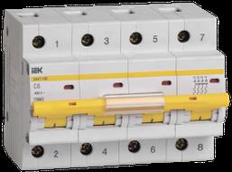 IEK Выключатель автоматический ВА47-100 4P 6А 10кА C, MVA40-4-006-C