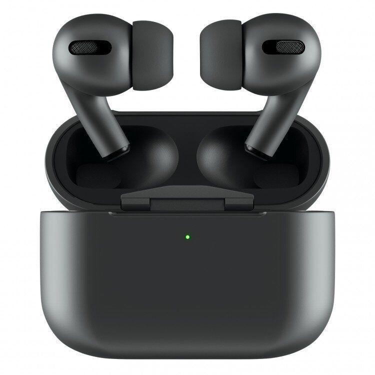 Беспроводные наушники Apple Airpods pro Вакуумные bluetooth Аирподсы для Iphone, android Люкс копия 1в1 Черные